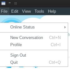 Glitch Menu Skype